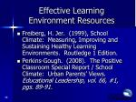 effective learning environment resources1