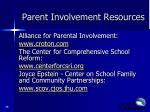 parent involvement resources1