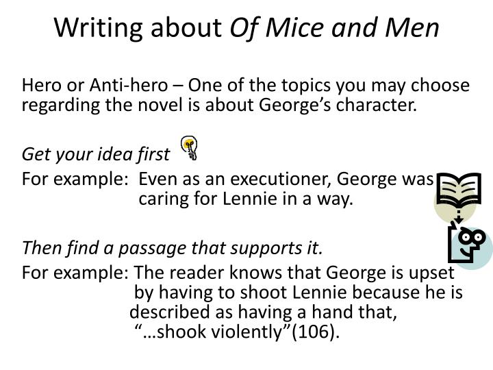 writing about of mice and men n.