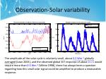 observation solar variability