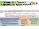 crosscutting concepts 4 systems and system models