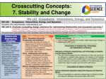 crosscutting concepts 7 stability and change