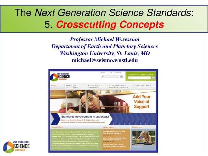 the next generation science standards 5 crosscutting concepts n.