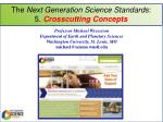 the next generation science standards 5 crosscutting concepts