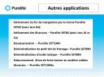 autres applications