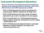 instrument development beamlines