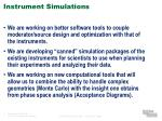 instrument simulations