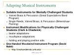 adapting musical instruments