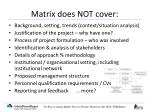 matrix does not cover