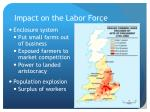 impact on the labor force