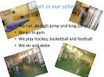 sport in our school
