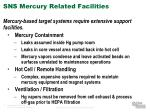 sns mercury related facilities