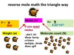 reverse mole math the triangle way