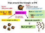 trips around the triangle w n