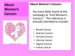 about women s cancers