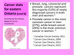 cancer stats for eastern o ntario cont d