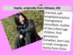 kaylie originally from ottawa on