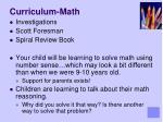 curriculum math