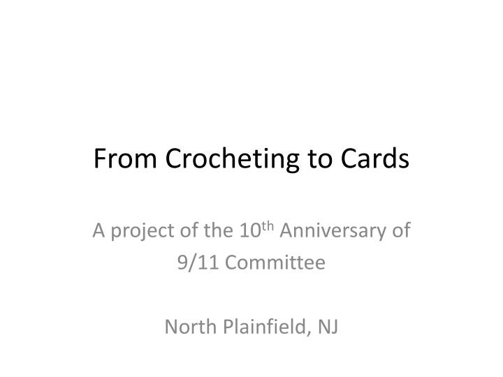 from crocheting to cards n.