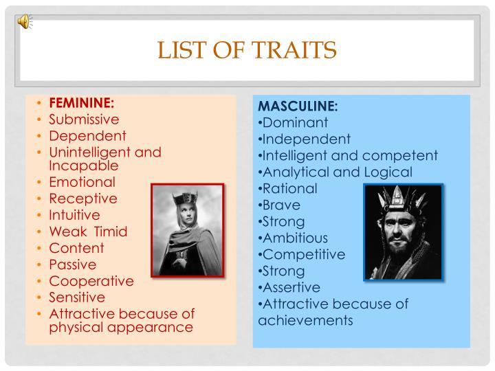 List of traits