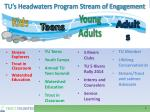 tu s headwaters program stream of engagement