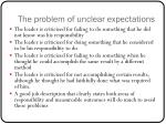 the problem of unclear expectations