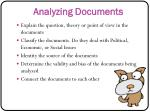 analyzing documents