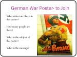 german war poster to join