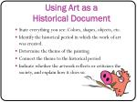 using art as a historical document