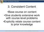 3 consistent content