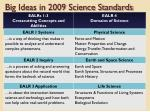 big ideas in 2009 science standards