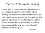 effective professional learning