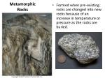 metamorphic rocks