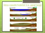 moss create habitat i e peat bog