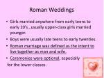 roman weddings
