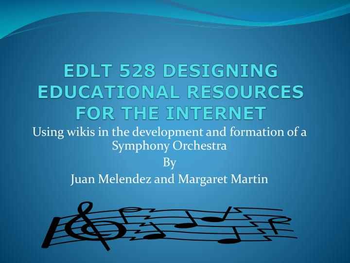 edlt 528 designing educational resources for the internet n.