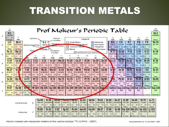 Transition Metals