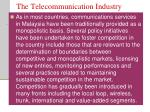 the telecommunication industry2