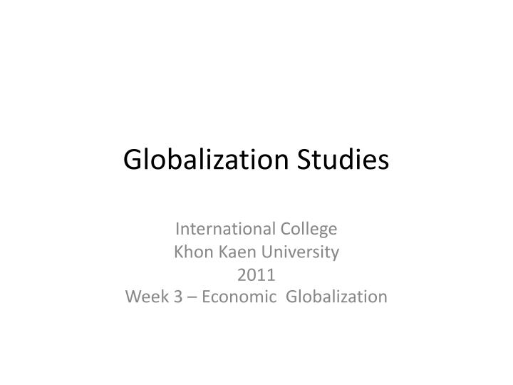 globalization studies n.