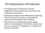 the globalization of production1