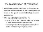 the globalization of production2