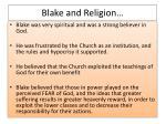 blake and religion