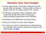 simulate your own sample