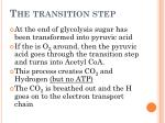 the transition step