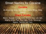 street names for cocaine