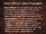most difficult most enjoyable