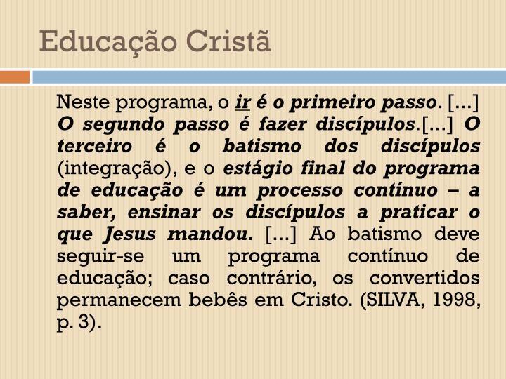 Educação Cristã