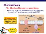 chemiosmosis