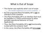 what is out of scope