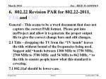 6 802 22 revision par for 802 22 2011 par and csd